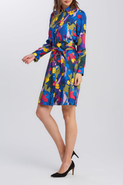 RUHA GANT D1. SPLENDID FLORAL SHIRT DRESS