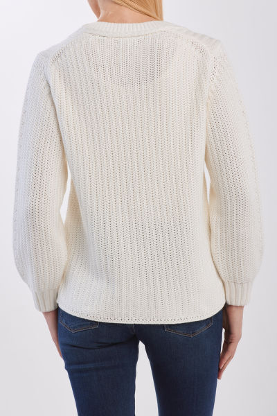 SVETR GANT D1. RIBBED COTTON CREW