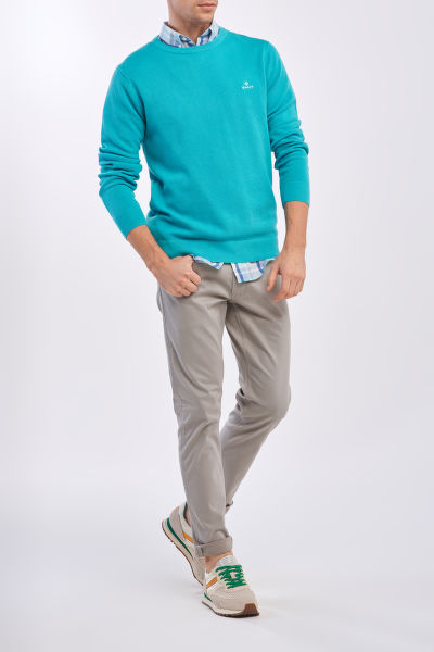 SVETR GANT COTTON PIQUE C-NECK
