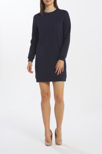 ?ATY GANT D2. TEXTURE CABLE DRESS