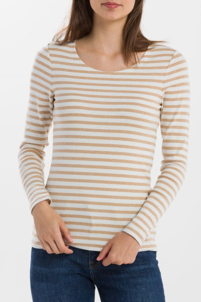 PÓLÓ GANT STRIPED 1X1 RIB LS T-SHIRT