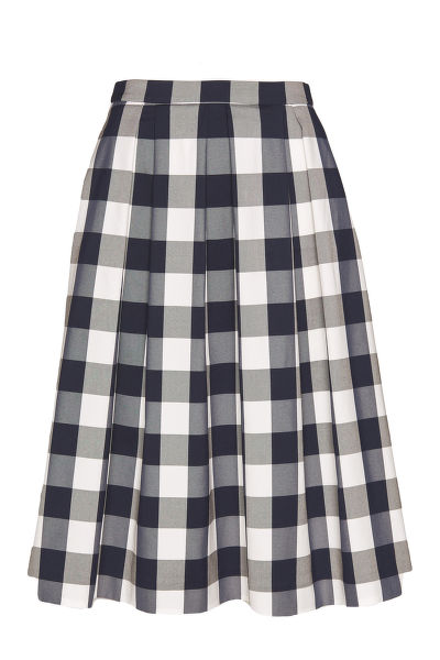 SUKN? GANT D1. GINGHAM PLEATED SKIRT