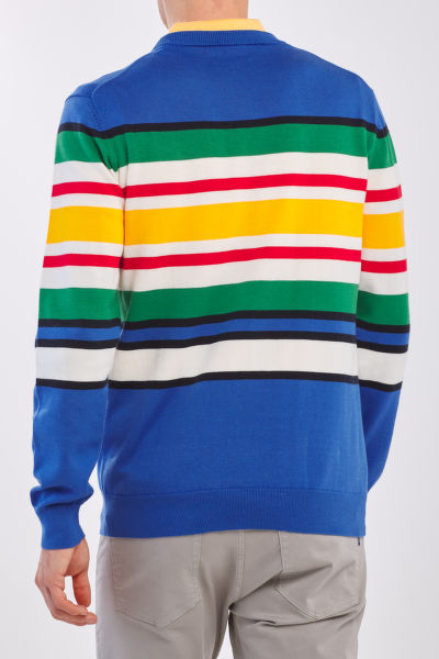 SVETR GANT D1. COTTON MULTI STRIPE CREW