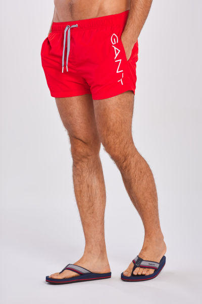 PLAVKY GANT LOGO SWIM SHORTS LIGHTWEIGHT