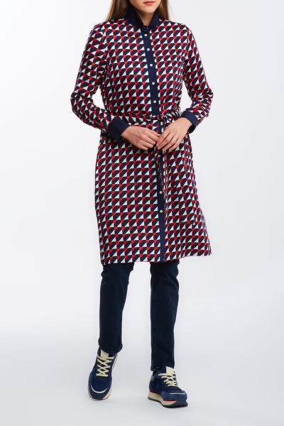 RUHA GANT D1. GEO A-LINE SHIRT DRESS