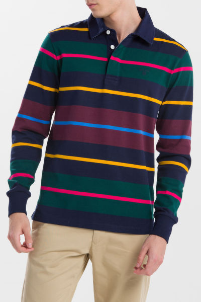 PÓLÓ GANT O1. MULTI STRIPE HEAVY RUGGER