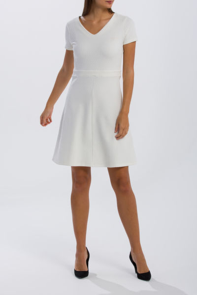 RUHA GANT O1. TEXTURED FLARED DRESS