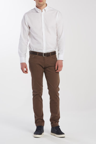 FARMER GANT D1. TAPERED SATIN JEANS
