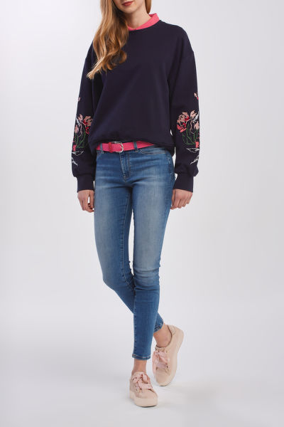 MIKINA GANT D1. PEONIES C-NECK SWEAT