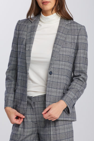 ZAKÓ GANT D1. CHECK FLANNEL REGULAR BLAZER