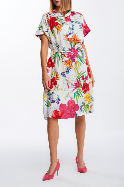 ŠATY GANT D2. HUMMING FLORAL POPOVER DRESS