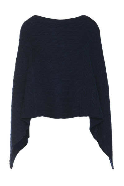 SVETR GANT D2. LAMBSWOOL CABLE PONCHO