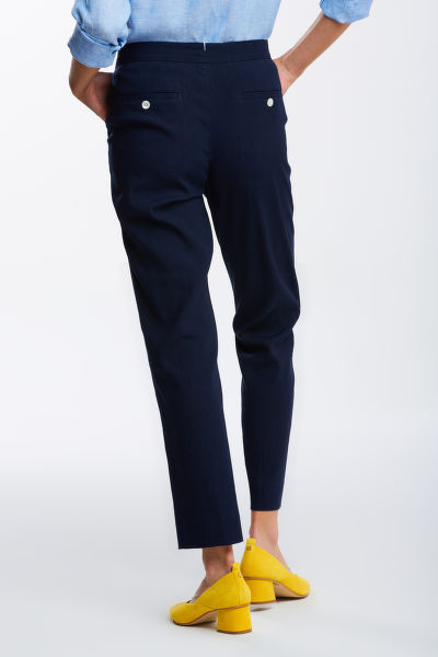 KALHOTY GANT D2. STRETCH LINEN TAPERED PANTS