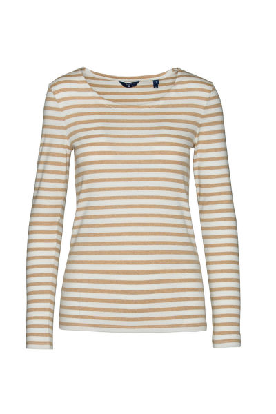 TRI?KO GANT STRIPED 1X1 RIB LS T-SHIRT