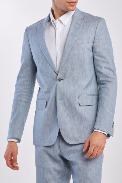 ZAKÓ GANT D2. SLIM STRETCH LINEN SUIT JKT