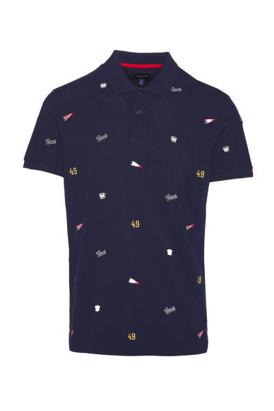 POLOKOŠILE GANT D1. FRENCH EMBROIDERY SS PIQUE