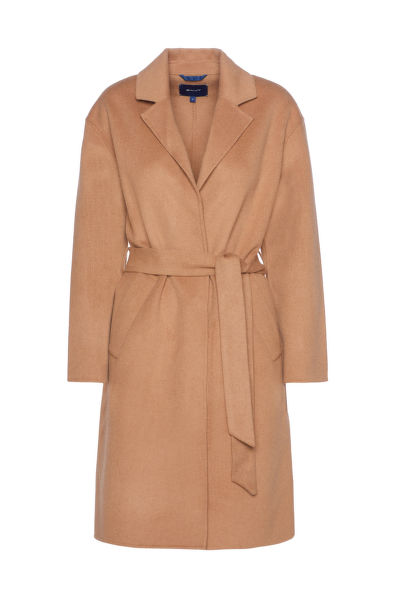 KABÁT GANT D1. WOOL BLEND BELTED COAT
