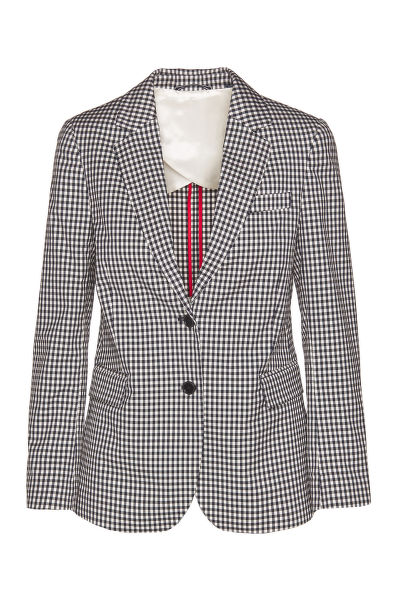 SAKO GANT D1. GINGHAM STRETCH REGULAR BLAZER