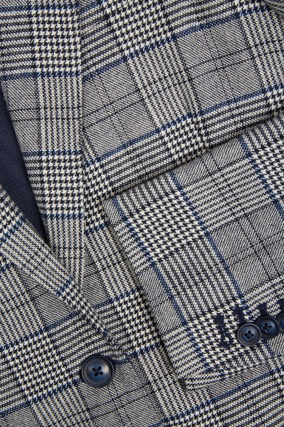 SAKO GANT D1. CHECK FLANNEL REGULAR BLAZER