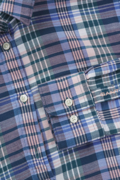 ?ATY GANT D2. FADED WINTER TWILL CHECK DRESS