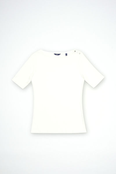 Top GANT O1. BOATNECK TOP WITH SH. BUTTONS