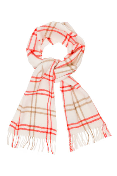 Sál GANT O2. TWILL CHECKED LAMBSWOOL SCARF