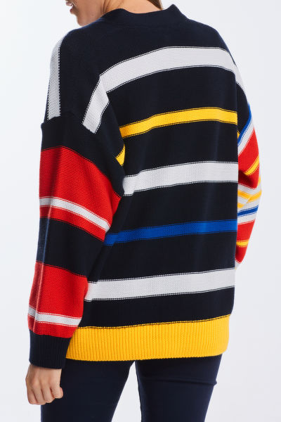SVETR GANT D1. MULTI STRIPED CARDIGAN
