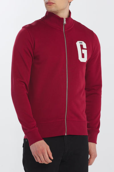 MELEGÍTŐ GANT D1. GRAPHIC ZIP-THROUGH SWEAT