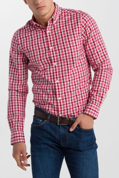 ING GANT O1. CAMPUS OXFORD CHECK REG BD