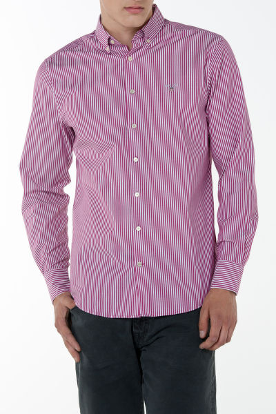Ing GANT O1. TECH PREP TWILL STRIPE SLIM BD