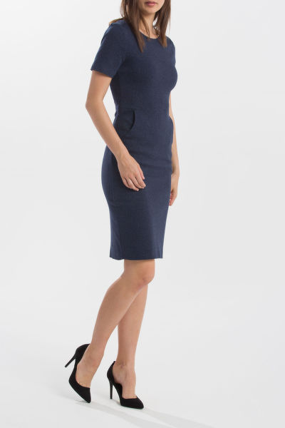 RUHA GANT O1.HERRINGBONE JERSEY DRESS
