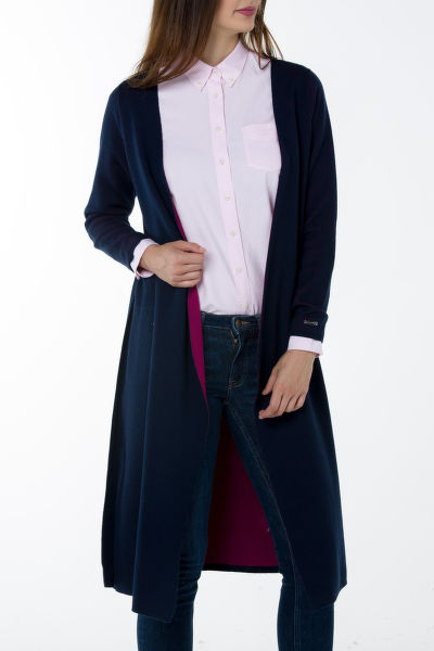 Svetr GANT O1. DOUBLED FACED WRAP CARDIGAN