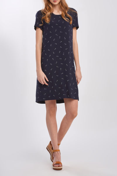 ŠATY GANT D1.CLASSIC SHIFT MICRO PRINT DRESS
