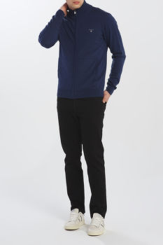 KARDIGÁN GANT COTTON WOOL ZIP CARDIGAN