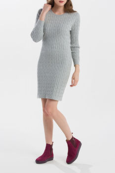 RUHA GANT STRETCH COTTON CABLE DRESS