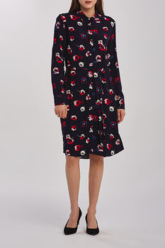RUHA GANT D1. PREPPY POPPY SHIRT DRESS