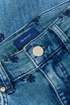 FARMER GANT D1. AO EMBROIDERED CROPPED JEAN