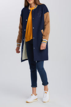 DZSEKI GANT D1. LONG VARSITY COAT