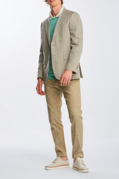 NADRÁG GANT D2. SLIM STRETCH LINEN SUIT PANTS