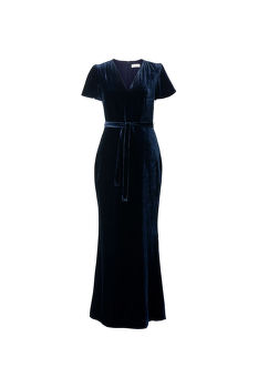 RUHA GANT G1. FULL LENGTH VELVET DRESS