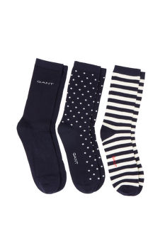 ZOKNI GANT D1. 3 PACK MIXED SOCKS
