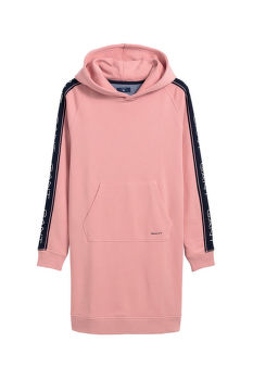RUHA GANT D1. . GANT ICON SWEAT HOODIE DRESS