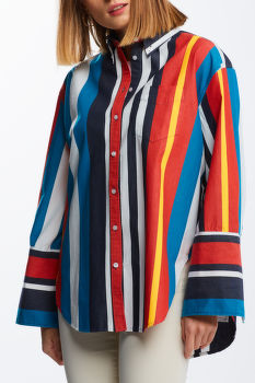 ING GANT D1. ROUGH WEATHER STRIPE SHIRT