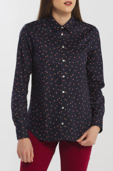 ING GANT D2. LURE PRINTED STRETCH OXF SHIRT