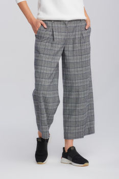 NADRÁG GANT D1. CHECKED CROPPED WIDE PANT