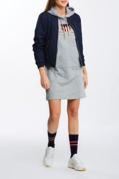 RUHA GANT D1. ARCHIVE SHIELD HOODIE DRESS