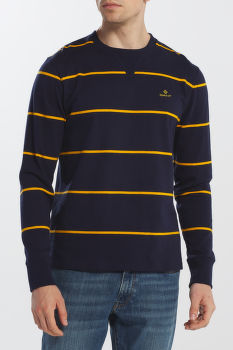 MELEGÍTŐ GANT D1. STRIPED RUGGER C-NECK