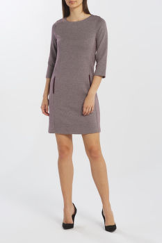 RUHA GANT D1. DOGTOOTH JERSEY CL SHIFT DRESS