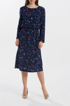 RUHA GANT O1.FALL LEAVES PRINTED DRESS