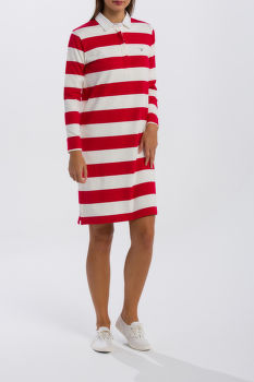 RUHA GANT O1. STRIPED HEAVY RUGGER DRESS